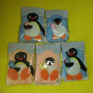 Pingu Pinga 2002年 banpresto 小毛巾 全5種