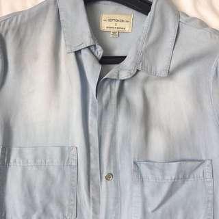blue, thin, denim shirt cotton on