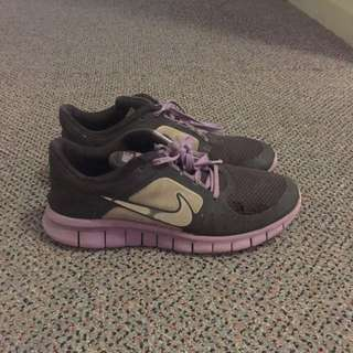 Purple And Black Girls Nikes
