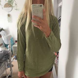knitted olive green jumper