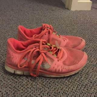 Coral Girls Nikes