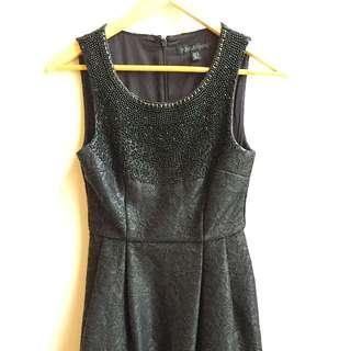 Black Sequinned Dress- Forever New