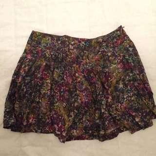 Zara Paint Mini Skirt