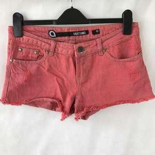 "Factorie ""Mustang"" - Pink Denim Shorts"