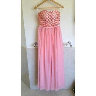 Strapless Pink Ball Dress
