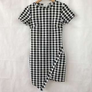 Angel Biba - Checkered Black And White Dress