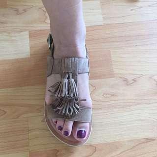 Sportsgirl Fringe Sandals