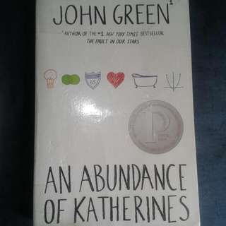 RUSH SALE. REPRICED!!!! An Abundance of Katherines by John Green