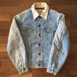 Lee storm rider jacket 80年代暴風騎士牛仔外套-超淺藍白領