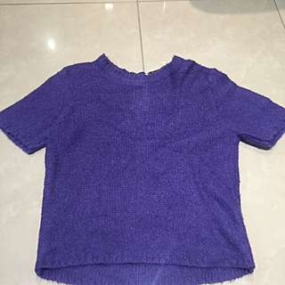 ASOS Fluffy Shell Top Purple