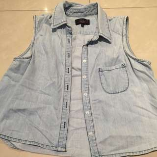 Denim Button Up Top / Shirt