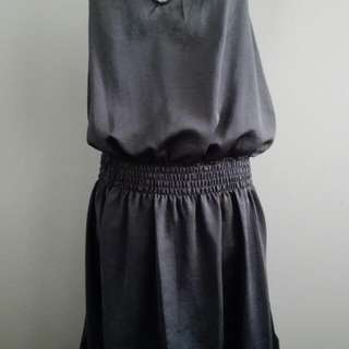 New Satin Grey Dress 8/10