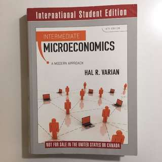 Intermediate Microeconomics: A Modern Approach 8ED - Hal Varian