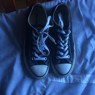 black and white converse size 7