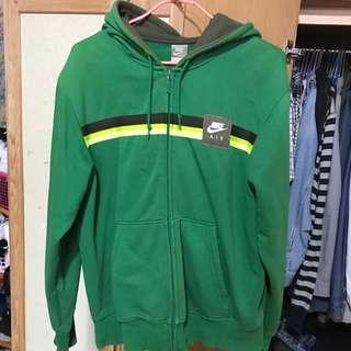 nike 綠色連帽外套