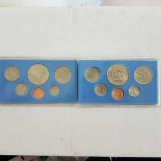 Singapore And Malaysia Old Coin Set