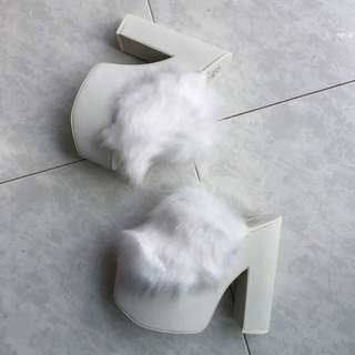 YRU Furry Platform Heels