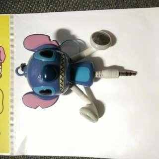 史迪奇 捲線造型耳機