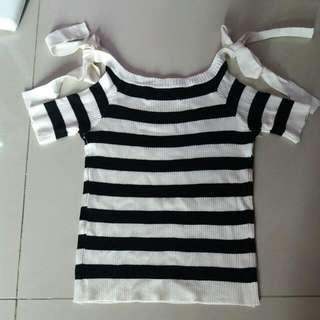 Stripe Knit Croptop