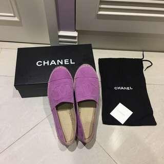 Chanel 香奈兒正品粉紫色鉛筆鞋
