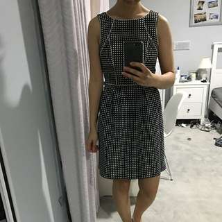 Black White Polkadot Tokito Dress AU8