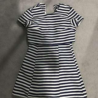 Brand New Navy White Asos Dress AU8