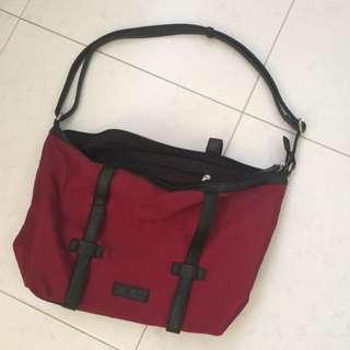 Maroon Boston Bag