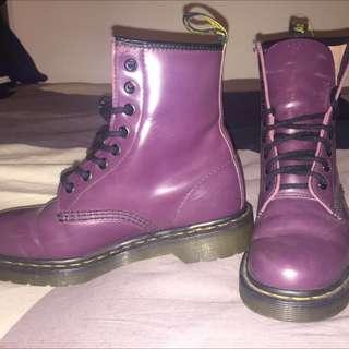 Doc Martins Purple