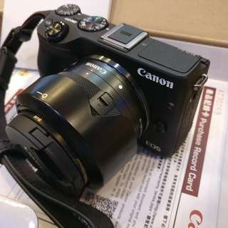 Canon EOS M3 Kit Set (22mm + 15-45mm) + Filters + EF-EOS Mount