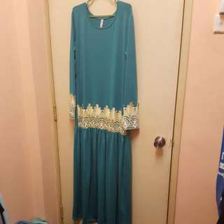 Muslimah Dress (Green Turquoise)