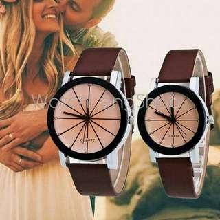 Couple Quartz leather watch