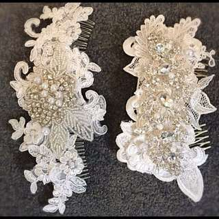 Hand Made Bridal Lace Hairpiece By Datto Bridal Designs