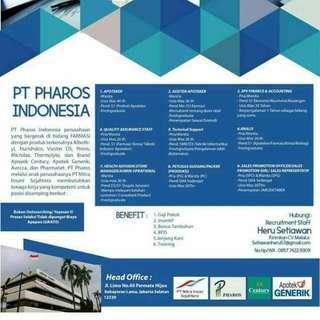 Lowongan Kerja Pt. Pharos Indonesia