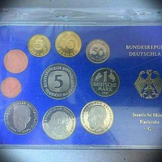 1991 G Germany Proof Coin Set