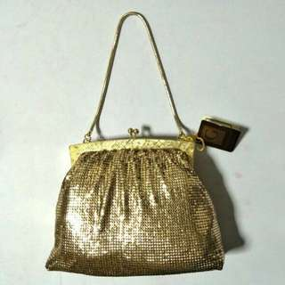 Original 1970s Glomesh Gold Hand Bag