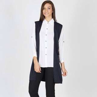 Double Outer Top White Navy
