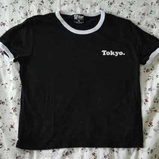Black Tokyo Print Tshirt Cotton On
