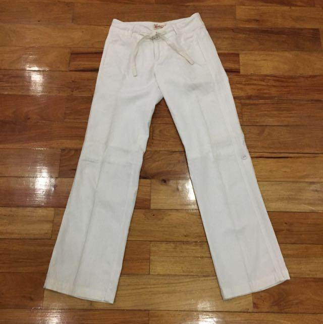2-way Linen Drawstring Pants