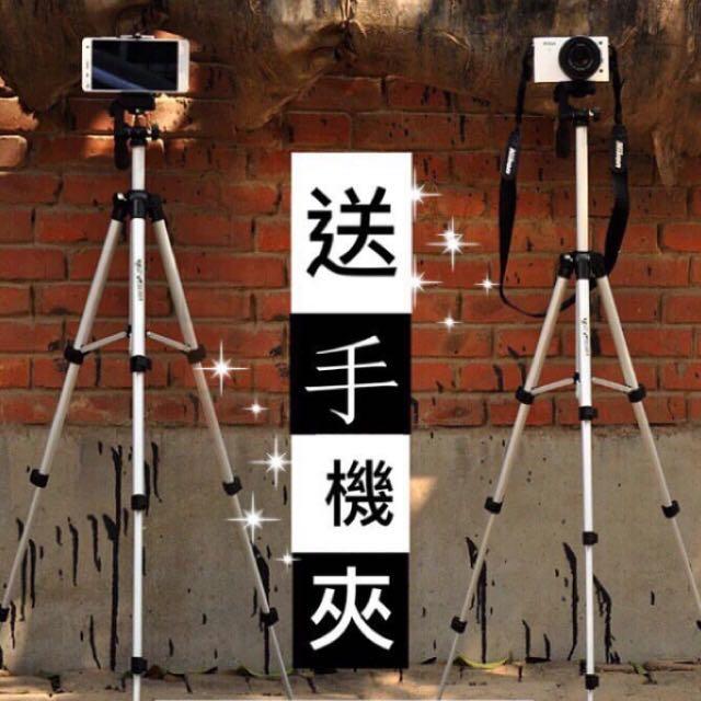 免運費!超值相機三角架★★★330A★★★單眼相機 專業腳架 三腳架 三向式 快拆雲台 附水平儀 背袋 手機夾