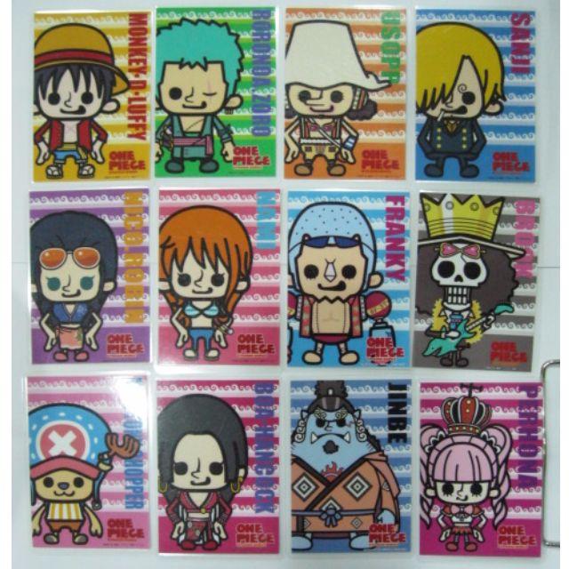 海賊王人物彩色護貝卡片  12張 9x6cm