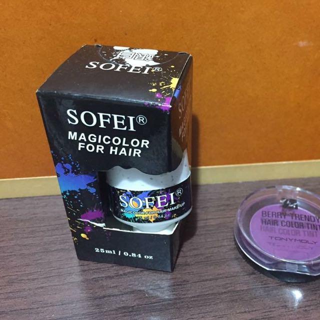 玩色。韓國變色髮餅。舒妃髮膏