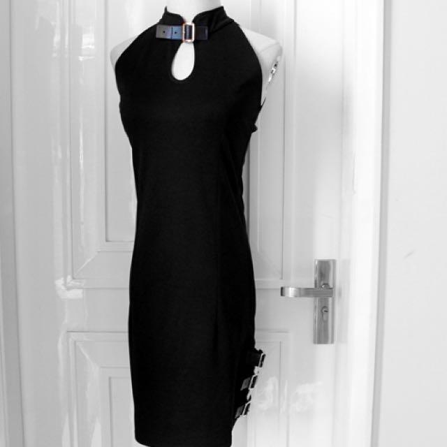 暗黑皮帶改良型旗袍