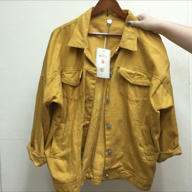黃色牛仔布外套