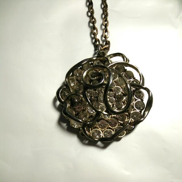 玫瑰水鑽項鍊