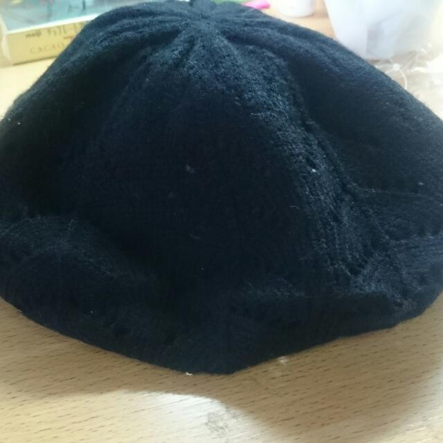 黑色 貝雷帽