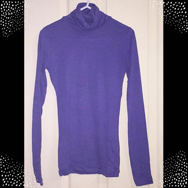 🌷 Purple Turtleneck Longsleeves 🌷