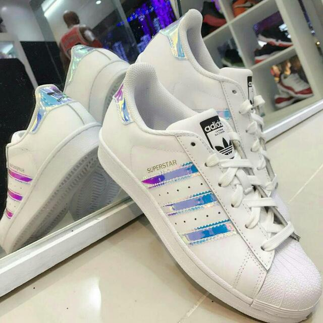 Adidas愛迪達 superstar 彩虹炫光