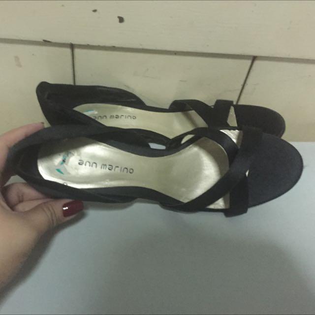 Ann Marino Black Formal Heels Size 8