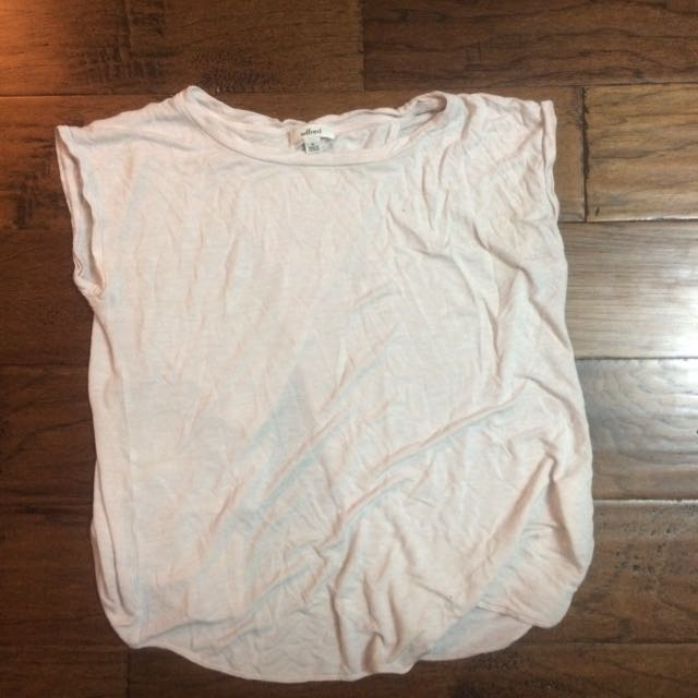 Aritzia Pink Wilfred And Free Open Back Tee