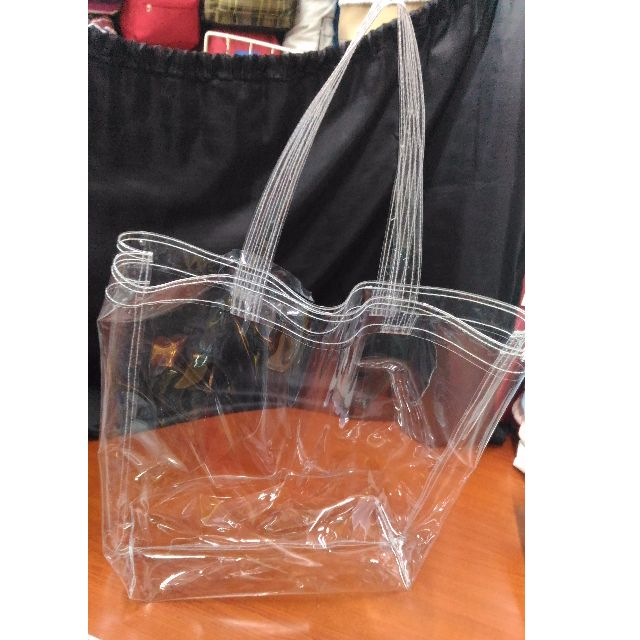 BEACH TRANSPARENT PLASTIC BAG